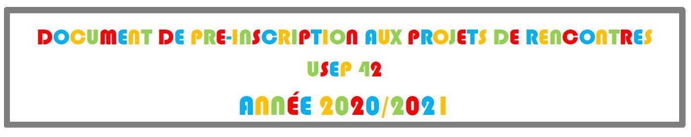 Fiche de pré-inscriptions 2020-2021